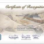 Certificato di riconoscimento