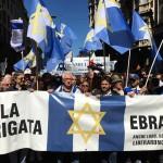 Il corteo del 25 aprile a Milano per la Brigata Ebraica