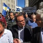 Stefano Parisi e Yoram Ortona al corteo del 25 aprile 2016
