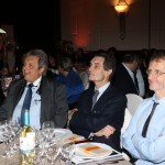 Il nuovo presidente della Regione Lombardia Attilio Fontana ascolta i discorsi