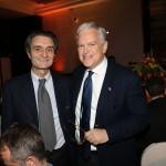 Nuovo presidente della Regione Lombardia Attilio Fontana con il presidente del KH Italia Andrea Jarach