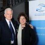 Il presidente del KH Italia Andrea Jarach con sua moglie Pia