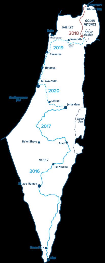 MAP WALK ISRAEL 2018