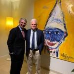 L'Ambasciatore S.E. Gianluigi Benedetti con Andrea Jararch, presidente del Keren Hayesod ONLUS