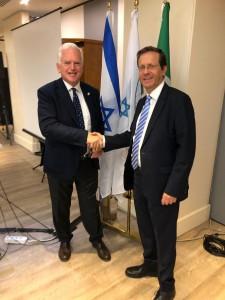Andrea Jarach, Presidente del Keren hayesod ONLUS, con Isaac Herzog, presidente dell Agenzia Ebraica
