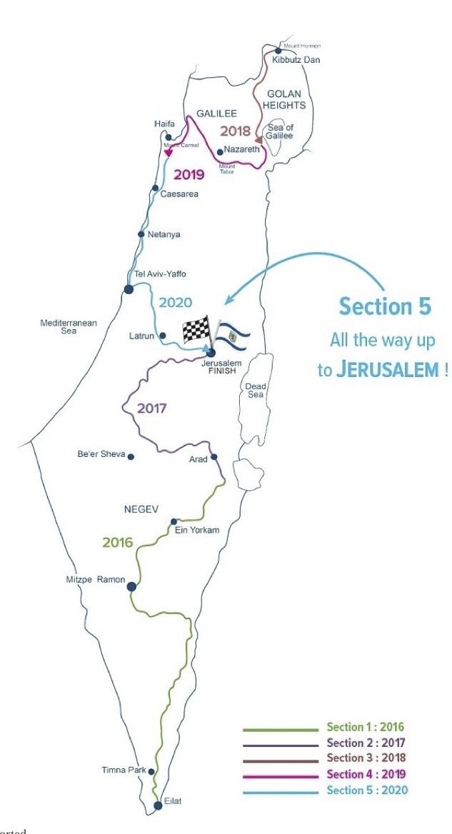 map walk israel 2020